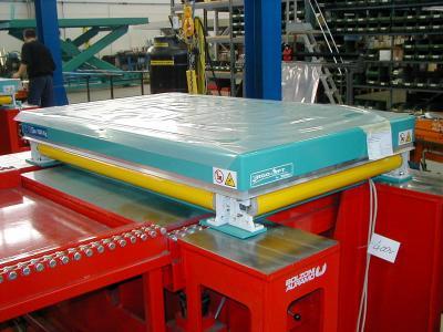 schaarheftafel met PVC veiligheid gordijnen