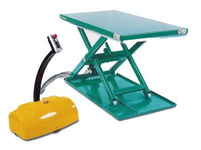 ultra lage pallet heftafel met separate unit © Sluysmachines.nl